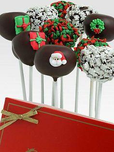 Christmastime Cake Pops from Golden Edibles