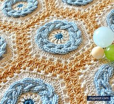 Warm and unique, gorgeous and so clever! Crochet Cable Hexagon designed by MYpicot uses a unique approach to colors and shapes to create stunning effects! The texture is dense and warm with a 3-D effect. The pattern also teaches the join-as-you-go method to put the motifs together. ============================== Crochet Cable Hexagon Free Croche...