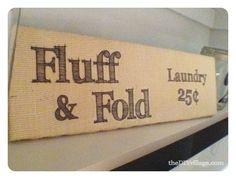 Laundry Sign Tutorial; Printing on Burlap - the DIY village