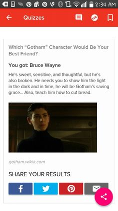 My Gotham bff is Bruce! Gotham Characters, Saved By Grace, Quizzes, Buzzfeed, Light In The Dark, The Darkest, Bff, Best Friends, Teaching