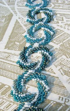 This pattern appeared  in Beadwork June/July 2010.  There are several color samples on this blog. #seed #bead