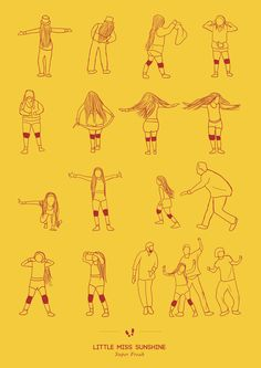 "LITTLE MISS SUNSHINE - Super Freak ""Dancing Plague of 1518″ by Niege Borges Alves (10 Illustrations) > Film-/ Fotokunst, Illustrationen > arrested developement, dance, dancing..."