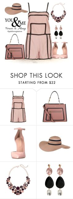 """""""The Honeymoon"""" by jadelovespintrest ❤ liked on Polyvore featuring Topshop, Fendi, ALDO, Black, INC International Concepts and MANGO"""