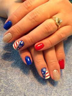 4 of July nails design