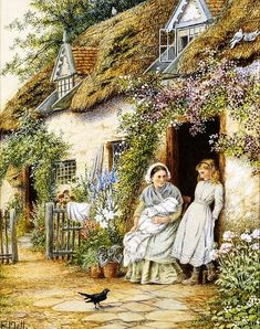 The Cottage Door  Counted cross stitch pattern in PDF format