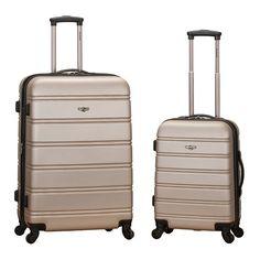 Rockland 2-Piece Hardside Spinner Luggage Set, Multicolor