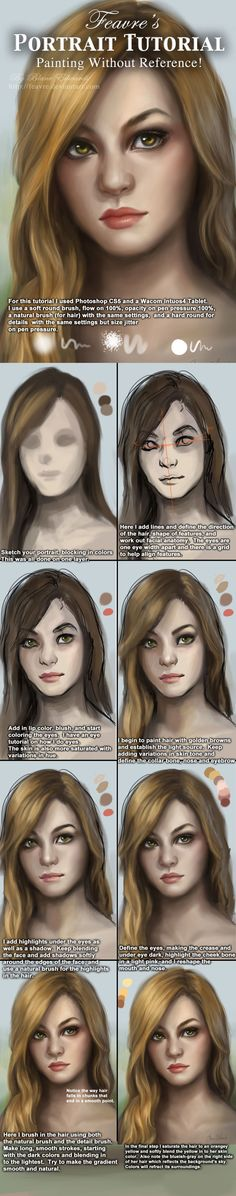 Portrait / Face painting Tutorial by feavre.deviantart.com on @deviantART