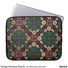 Choose from a variety of Elegant laptop sleeves or make your own! Shop now for custom laptop sleeves & more! Christmas Fun, Vintage Christmas, Custom Laptop, Personalized Products, Tile Patterns, Laptop Sleeves, Vintage Shops, Create Your Own, Tiles
