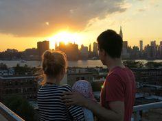 Urlaub mit Baby in New York, Sonnenuntergang, Skyline - Jules & Pi