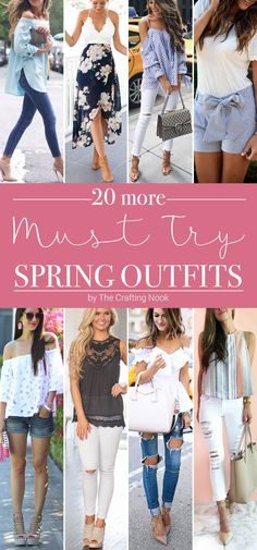 Already enjoying Spring? I so am. I'm eager to start trying to copy these Must Try Spring Outfits. So much inspiration and ideas to create the perfect Spring outfit! Come check these out!