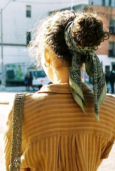 hair bandana inspiration #NaturalCurlyHair