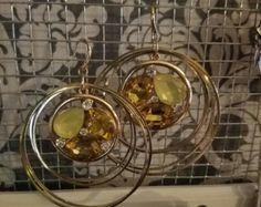 Oro y joya púrpura cristal cuentas delicado por monroejewelry