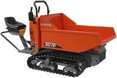 Our employee's newest friend. The Kubota Diesel power wheelbarrow!