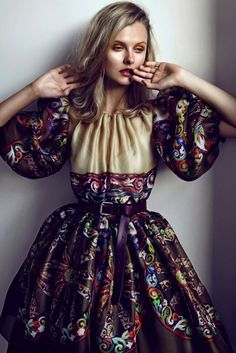 Prettily pretty: Kamila Filipcikova by Branislav Simoncik for Elle Czech