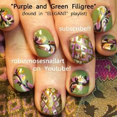 Super cute for fall! Don't know if I would do that shade of green on my fingers, but love the swirls!