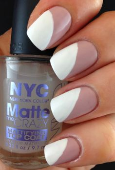 Nail Art Trends 2014 - Slanted French Tip Manicure