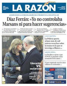 La Razón, 5 de diciembre de 2012