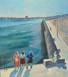 """o. louis guglielmi, """"the river,"""" oil on canvas, 1942."""