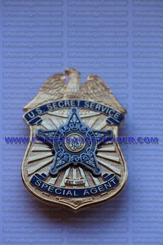 US Secret Service Special Agent badge. Sun Badge Hallmark Rear clip attachment. Available at www.policebadgetrader.com