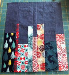 Book shelf quilt block tutorial