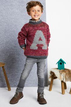 A-genser i Phil Tweed m. Tweed, Sarees, Christmas Sweaters, Crochet Hats, Boys, Handmade, Fashion, Threading, Knitting Hats