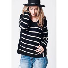 Black Stripe Knit Jumper