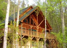 Maggie Valley Vacation Rental - VRBO 304972 - 2 BR Smoky Mountains Cabin in NC, Escape to the Mountains Loginn@Creekside! 2+/2  975/wk  ******