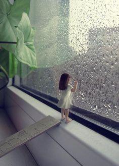 Girl at the Rainy Window - Sergey Teplov Rain Photography, Girl Photography Poses, Concept Photography, Love Wallpapers Romantic, Rainy Window, I Love Rain, Cute Cartoon Wallpapers, Love Images, Cute Drawings