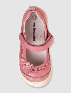 Zapatos tipo babies 'aprendemos solitos' niña BEIGE OSCURO LISO CON MOTIVOS+ROSA CLARO LISO CON MOTIVOS