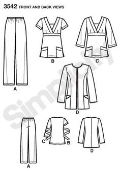 DIY scrub top scrub pants sewing pattern