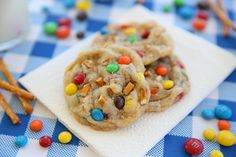 Salted PB Pretzel M&M Cookies from Our Best Bites