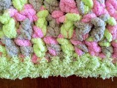 Chunky Pink Handmade Baby Blanket
