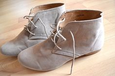 grey laced up booties