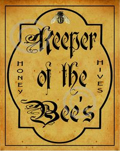 Whimsical Keeper of the Bee's Vintage Style by DragonflyMeadowsArt, $39.00