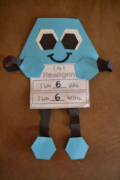 Shape Unit with craftivities for 11 shapes!  Add to this idea for Middle School