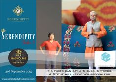 ICE Studio presents one of the world's finest 3D printed Figures exclusively at Serendipity Take 5 at DLF Magnolias on 3rd September,2015 between 10 am - 7 pm. you get you invite logo on to www.serendipitybykashish.com and click Goin....First 10 walk-in to get freebies