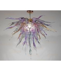 hotel hand blown glass chandelier by magic