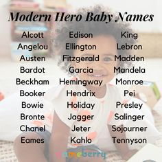 70 Modern Hero Baby Names Baby names inspired by activists, artists, celebrities, and historical fig Cute Baby Names, Unique Baby Names, Girl Names, Name Inspiration, Modern Names, Classic Names, Baby Name List, Name Generator, Name Games