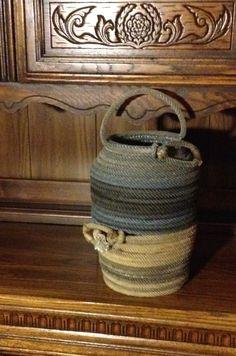 Handmade lariat rope basket