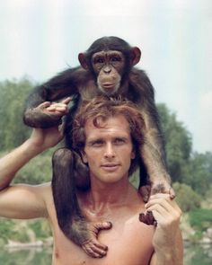 """""""Tarzan"""" TV show. Talk about a Crush! This Tarzan was sooo Dreamy! Always watched this Tarzan. And the casting for that precious little boy was great!( not the one on his head in pic. Tarzan Of The Apes, Tarzan And Jane, Tv Vintage, Tarzan Movie, Mejores Series Tv, Old Shows, My Childhood Memories, Classic Tv, Vintage Tv"""
