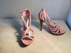 Delicious Pink Strappy Platform Heels