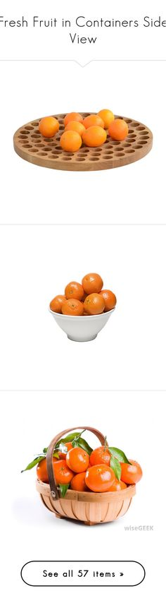 """""""Fresh Fruit in Containers Side View"""" by s-p-j ❤ liked on Polyvore featuring home, kitchen & dining, serveware, food, decor, filler, fruit bowls, fruit holder, vegetable bowl and fruit bowl"""