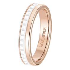 Quatre White Edition wedding band , a Maison Boucheron Jewelry creation. A Boucheron creation tells a Story, that of the Maison and your own.