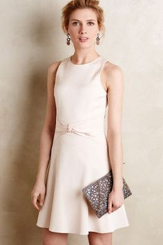 Faille Knot-Waist Dress