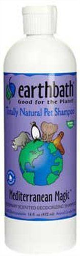 EarthBath All Natural Mediterranean Magic Soap Free Shampoo for Dogs Cats 16z