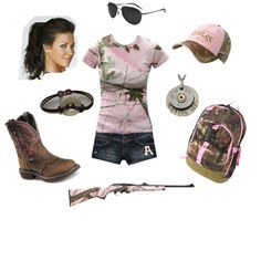 Pink Camo, created by njdellis on Polyvore
