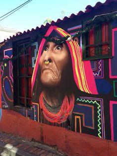 Arte callejero hace un hermoso homenaje a origen indígena