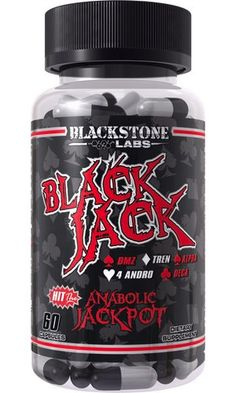 Blackstone Labs just hit the Jackpot with this one, no pun intended. Are you kidding me...a full hand of pro-hormones all in one? Black Jack is basically 5 products for the price of one and