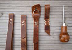 wood and faulk camera straps. nice stitch details.