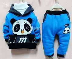 OH COME ON... HOW CUTE?? Wholesale Cute baby outfits catpants hooded Panda pattern thicken yellow/green/blue/orange 4sets/lot 121016, Free shipping, $16.2~18.81/Set | DHgate